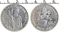 Изображение Монеты Ватикан 1000 лир 1978 Серебро UNC Иоанн Павел II. Чрез
