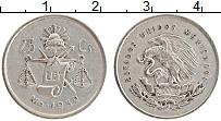 Изображение Монеты Мексика 25 сентаво 1952 Серебро XF
