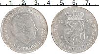 Изображение Монеты Нидерланды 10 гульденов 1973 Серебро UNC- 25 лет правления Кор