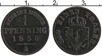 Изображение Монеты Пруссия 1 пфенниг 1856 Медь XF- А