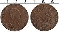 Изображение Монеты Австрия 6 крейцеров 1800 Медь XF+ В. Франц II