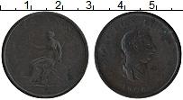 Изображение Монеты Великобритания 1/2 пенни 1806 Медь VF Георг III. Британия