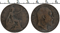 Изображение Монеты Великобритания 1 пенни 1907 Бронза VF Эдуард VII