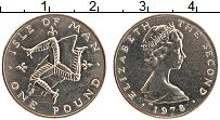 Изображение Монеты Остров Мэн 1 фунт 1978 Медно-никель UNC- Елизавета II. Триске