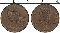 Изображение Монеты Ирландия 1/4 пенни 1939 Бронза XF Птица