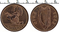 Изображение Монеты Ирландия 1 пенни 1943 Бронза XF Курица