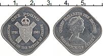 Изображение Монеты Остров Джерси 1 фунт 1981 Медно-никель XF Елизавета II. 200-ле