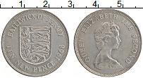 Изображение Монеты Остров Джерси 10 пенсов 1968 Медно-никель XF Елизавета II.