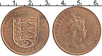 Изображение Монеты Остров Джерси 1/12 шиллинга 1966 Медь XF Елизавета II. 900 ле