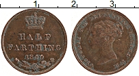 Изображение Монеты Великобритания 1/2 фартинга 1844 Медь XF Виктория