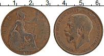 Изображение Монеты Великобритания 1 пенни 1912 Медь XF Георг V