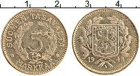 Изображение Монеты Финляндия 5 марок 1948 Латунь XF Герб