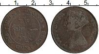 Изображение Монеты Гонконг 1 цент 1866 Медь XF Виктория