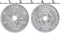 Изображение Монеты Лаос 20 сантим 1952 Алюминий XF Герб