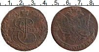 Изображение Монеты 1762 – 1796 Екатерина II 5 копеек 1781 Медь XF- ЕМ