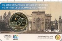 Изображение Подарочные монеты Бельгия 2 евро 2020 Биметалл UNC Монета посвящена 100