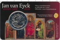 Изображение Подарочные монеты Бельгия 2 евро 2020 Биметалл UNC Монета посвящена Яну