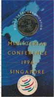 Изображение Подарочные монеты Сингапур 5 долларов 1996 Медно-никель UNC Монета посвящена Пер