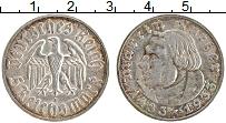 Изображение Монеты Третий Рейх 5 марок 1933 Серебро XF Мартин Лютер А