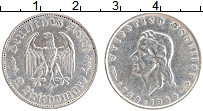 Изображение Монеты Третий Рейх 2 марки 1934 Серебро XF F. 175 лет со дня ро