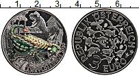 Изображение Монеты Австрия 3 евро 2020 Медно-никель UNC Динозавры. Анкилозав