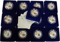 Изображение Подарочные монеты Приднестровье Города-герои 2020 Серебро Proof Набор монет Приднест