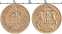 Изображение Монеты Гамбург 10 марок 1909 Золото XF