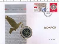Изображение Подарочные монеты Монако 2 евро 2013 Биметалл Proof