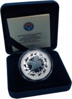 Изображение Подарочные монеты Киргизия 10 сом 2016 Серебро Prooflike