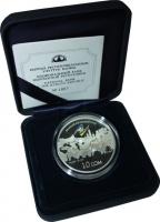 Изображение Подарочные монеты Киргизия 10 сом 2011 Серебро Proof `Подарочная монета `