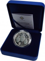 Изображение Подарочные монеты Киргизия 10 сом 2019 Серебро Proof Эпоха Киргизкого каг