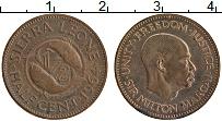 Изображение Монеты Сьерра-Леоне 1/2 цента 1964 Бронза Proof- Милтон Маргаи
