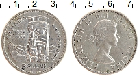 Изображение Монеты Канада 1 доллар 1958 Серебро XF 100 лет провинции Бр