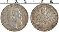 Изображение Монеты Вюртемберг 3 марки 1912 Серебро XF F. Вильгельм II
