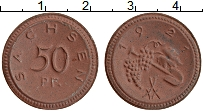 Изображение Монеты Германия : Нотгельды 50 пфеннигов 1921 Фарфор UNC Саксония