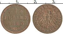 Изображение Монеты Франфуркт 1 геллер 1863 Медь XF