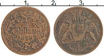 Изображение Монеты Баден 1/2 крейцера 1859 Медь XF
