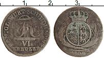Изображение Монеты Вюртемберг 6 крейцеров 1809 Серебро VF