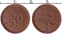 Изображение Монеты Германия : Нотгельды 20 пфеннигов 1921 Фарфор UNC Саксония
