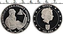 Изображение Монеты Гана 100 сика 2003 Медно-никель UNC Принц Вильям.Елизаве