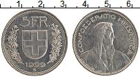 Изображение Монеты Швейцария 5 франков 1999 Медно-никель UNC-