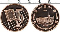 Изображение Монеты Монако 5 евроцентов 2005 Бронза UNC Проба