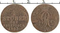 Изображение Монеты Брауншвайг-Каленберг-Ганновер 1/4 стюбера 1823 Медь XF Георг IV
