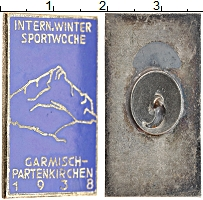 Изображение Монеты Третий Рейх Знак 1938 Медно-никель XF Значек альпиниста.Эм