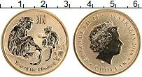 Изображение Монеты Австралия 1 доллар 2016 Латунь UNC Год Обезьяны