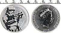 Изображение Монеты Ниуэ 2 доллара 2018 Серебро UNC Елизавета II.Звездны