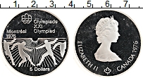 Изображение Монеты Канада 5 долларов 1976 Серебро Proof Елизавета II.Олимпиа