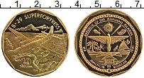 Изображение Монеты Маршалловы острова 10 долларов 1991 Латунь Proof- Самолёт В-29 SUPERFO