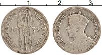 Изображение Монеты Родезия 3 пенса 1932 Серебро VF Георг V