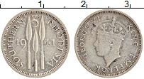 Изображение Монеты Родезия 3 пенса 1941 Серебро XF Георг VI
